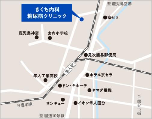 きくち内科簡略地図